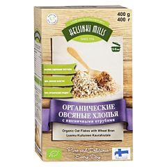 Хлопья Helsinki Mills органические овсяные с пшеничными отрубями 400 г
