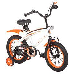 """Детский велосипед Capella 14"""" BM (Белый/Оранжевый)"""