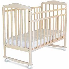 Кроватка детская СКВ-Компани Митенька (качалка-колесо) Снежная береза
