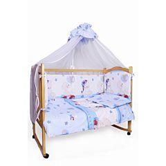 Комплект постельного белья AmaroBaby (7 предметов) Мишкин Сон голубой