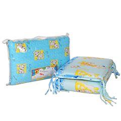 Бампер для кроватки Baby Care на молнии 38х360см (голубой)