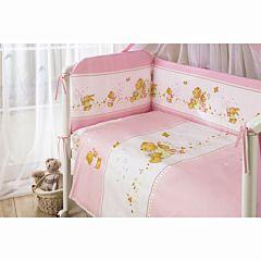 Комплект постельного белья Perina Фея Лето (3 предмета, хлопок/сатин) (Розовый)