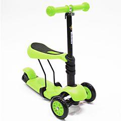 Самокат Hubster Lux с сиденьем (зеленый)