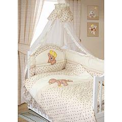 Комплект постельного белья Золотой Гусь Мишка-Царь (8 предметов, хлопок) (бежевый)