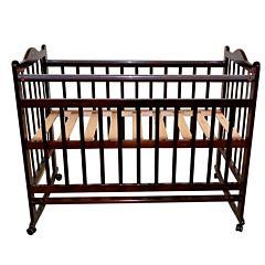 Кроватка детская Briciola 1 (качалка-колесо) (темная)