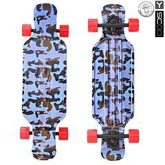 "Лонгборд Y-Scoo Fish Skateboard TIR 31"" с сумкой (army blue) ДИСКОНТ"