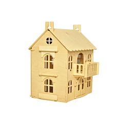 Домик для кукол WoodLines Арина с комплектом мебели (натуральный)