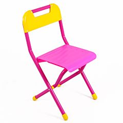 Стульчик складной пластиковый Дэми №3 (Розовый)