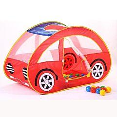 Детская палатка Calida с шарами Автомобиль (красный)