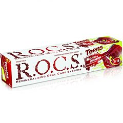 Зубная паста R.O.C.S. Вкус активного дня (от 8-18 лет) Кола и лимон
