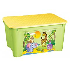 Корзина для игрушек Бытпласт 2 (Жёлто-зелёный)