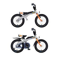 """Беговел-велосипед (2 в 1) Rennrad 14"""" (оранжевый)"""