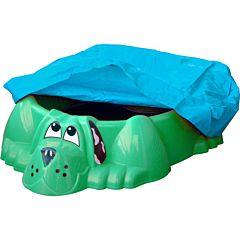 Песочница-бассейн Palplay Собачка с покрытием (Зеленый)