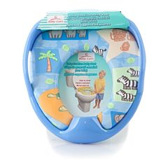 Накладка на унитаз Baby Care PM2399 с ручками (синий)
