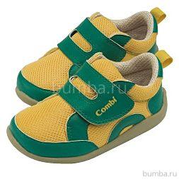 Ботинки Combi Baby Sneakers (зелено-желтые)