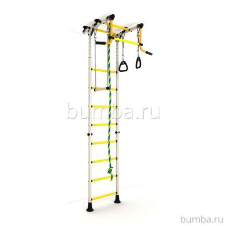 Детский спортивный комплекс Карусель Комета-2 Эконом (бело-желтые)
