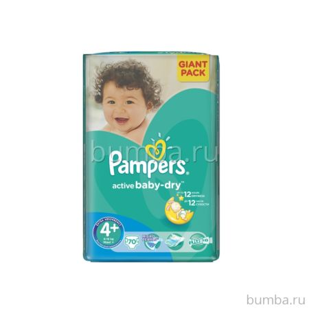 Подгузники Pampers Active Baby-Dry Maxi Plus (9-16 кг) 70 шт