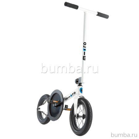 Самокат с большими колесами Micro Pedalflow (белый)