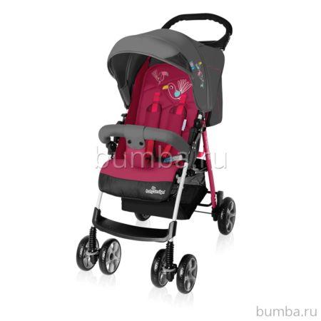 Коляска прогулочная Baby Design Mini (розовая)