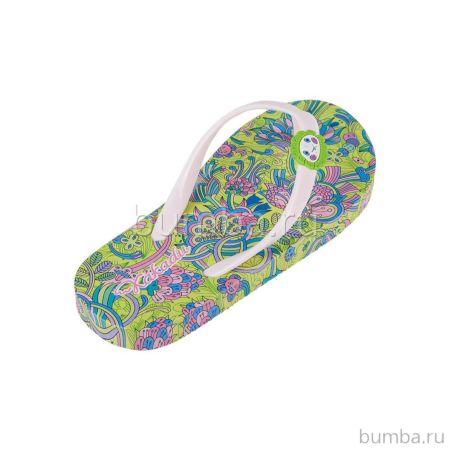 Шлепки детские Какаду 5393B (зеленые)