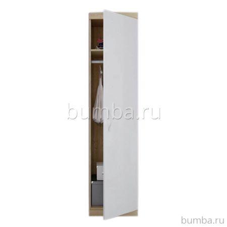 Шкаф-пенал Polini Classic (дуб-белый глянец)