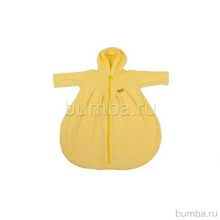 Конверт с рукавами хлопковый Чудо-Чадо БыстрОдежка Неваляшка (Желтый)