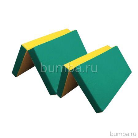 Гимнастический мат Kampfer №7 200х100см (зеленый)