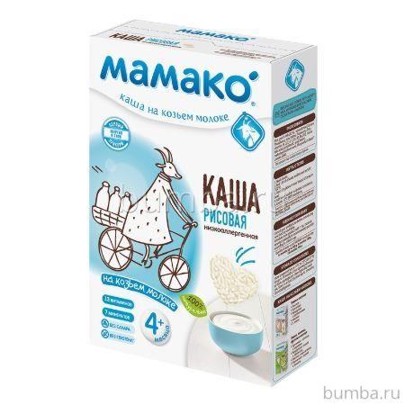 Рисовая каша Мамако на козьем молоке (с 4 мес.)