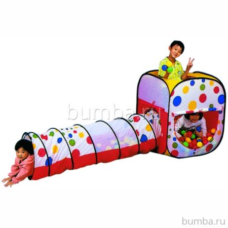 Детская палатка Calida с шарами Квадрат и Тоннель