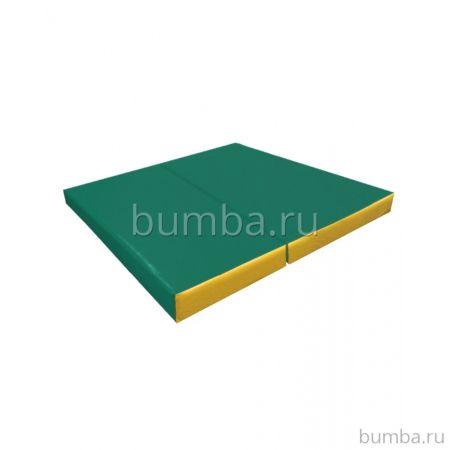 Гимнастический мат Kampfer №4 100х100см (зеленый)