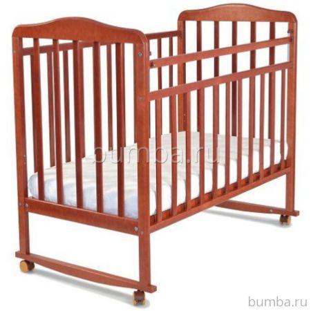 Кроватка детская СКВ-Компани Митенька (качалка-колесо) Орех