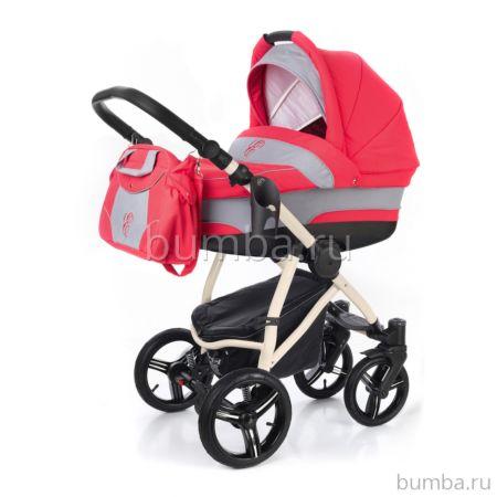 Коляска 2 в 1 Esspero Newborn Lux Beige Red Grey