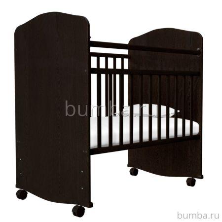 Кроватка-качалка Агат Золушка-8 (Шоколад)