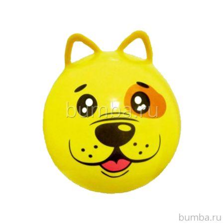 Гимнастический мяч Moby Kids Щенок с ушками (50 см) (Желтый)
