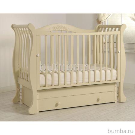 Кроватка детская Гандылян Габриэлла (универсальный маятник) (слоновая кость)