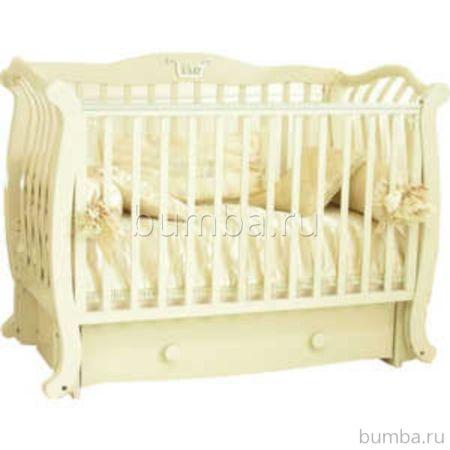 Кроватка детская Можга Аэлита С888 (поперечный маятник) (слоновая кость)