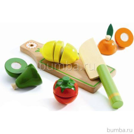 Игра Djeco Набор для разрезания Фрукты и овощи