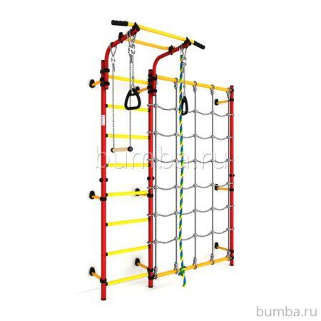 Детский спортивный комплекс Карусель S3 (красно-желтый)