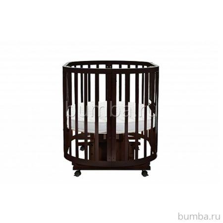 Кроватка-трансформер Noony Cozy (поперечный маятник) (венге)