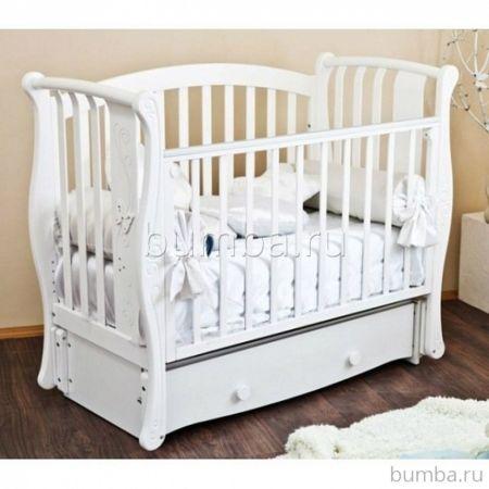 Кроватка детская Можга Ярослава С551 (продольный маятник) (белый)
