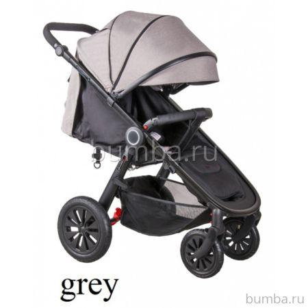 Коляска прогулочная Coletto JOGGY на чёрной раме (Grey melange)