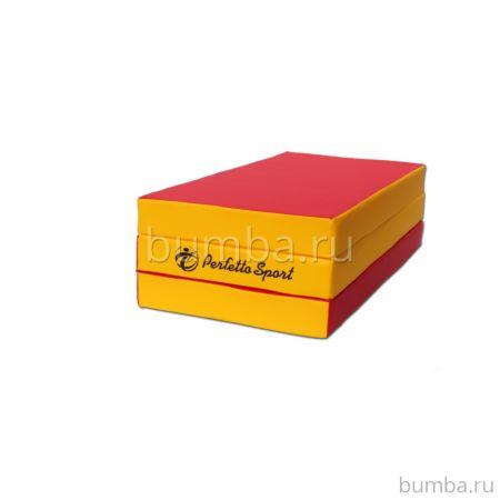 Гимнастический мат Perfetto Sport №4 150х100см (красно-желтый)
