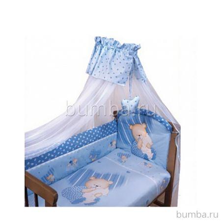 Комплект постельного белья Золотой Гусь Мишутка (голубой) (3 предмета)