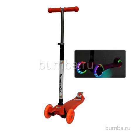 Самокат Babyhit ScooterOK Plus со светящимися колесами (оранжевый)