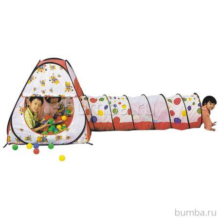 Детская палатка Calida с шарами Конус и Тоннель