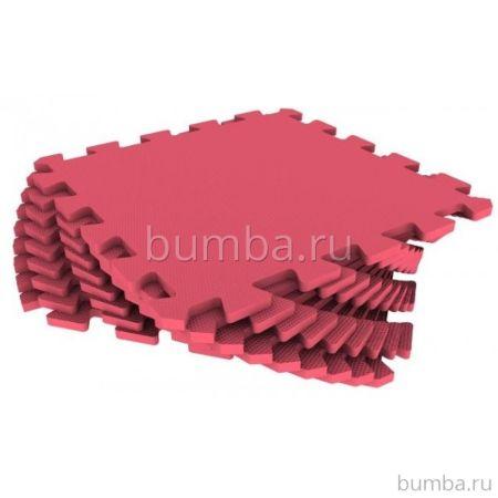 Мягкий пол Экополимеры 30*30 (красный)