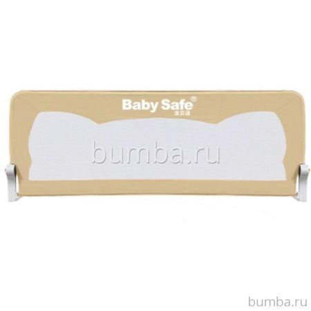 Барьер безопасности для кроватки Baby Safe Ушки 120х67см (Бежевый)