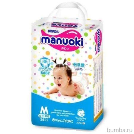 Подгузники-трусики Manuoki М (6-11 кг) 56 шт
