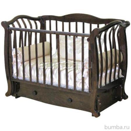 Кроватка детская Можга Аэлита С888 (поперечный маятник) (шоколад)