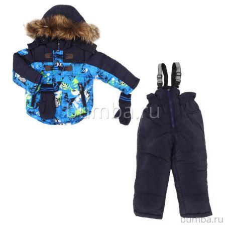 Куртка с полукомбинезоном зимние Fun Time BKF1724MBLUE